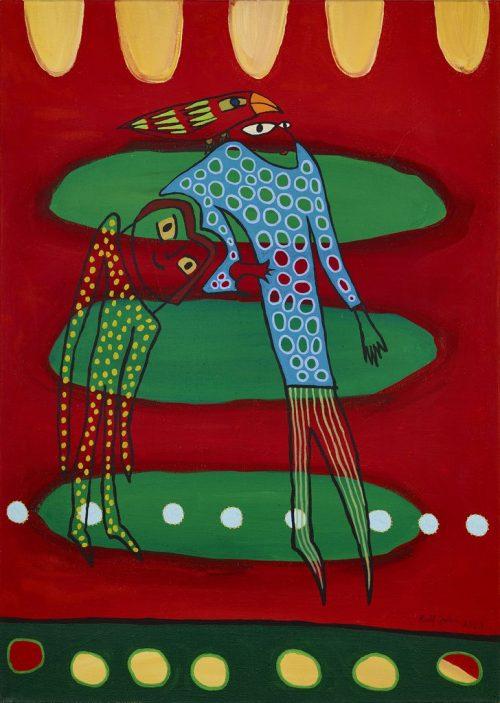 rolf jahn begleitung 2003 acrylfarbe auf leinwand 140 x 100 cm