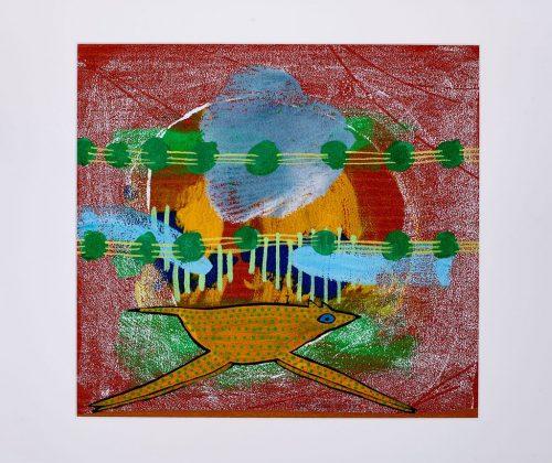 rolf jahn sprung 2010 acrylfarbe auf papier 60 x 50cm