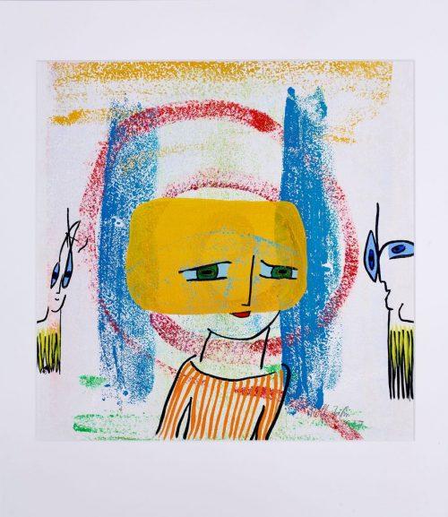 rolf jahn transzendenz 2017 acrylfarbe auf papier 60 x 50cm