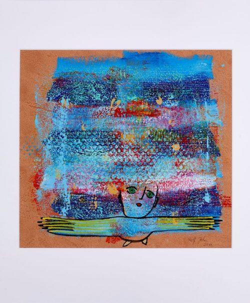 rolf jahn vielflieger 2011 acrylfarbe auf papier 60 x 50 cm
