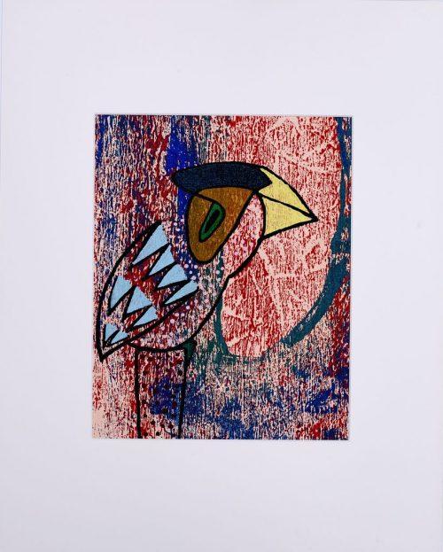rolf jahn vogel 2001 acrylfarbe auf leinwand 50 x 40cm