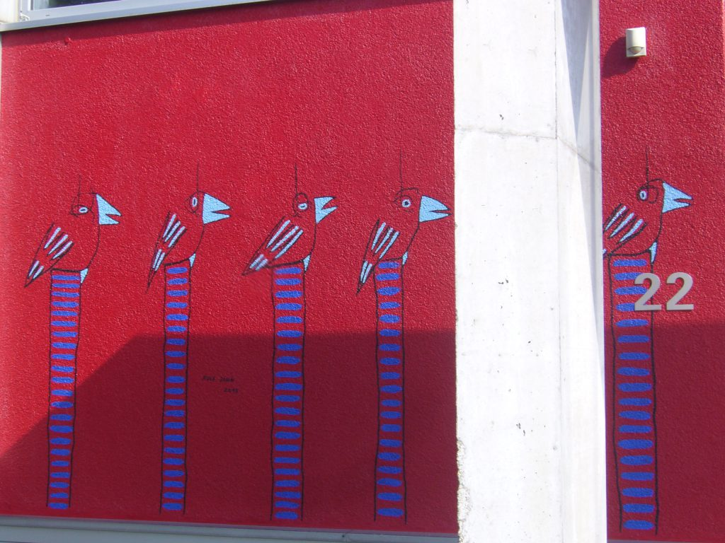 rolf jahn wandmalerei firmengebäude leverkusen detail 8