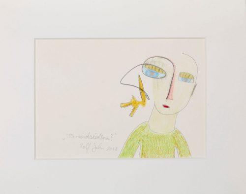rolf jahn wersindsiedenn 2008 bleistift und buntstift auf papier 24 x 30 cm