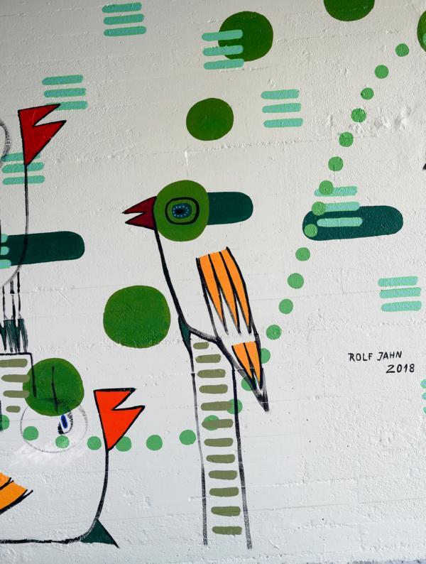 rolf jahn zoo köln wandmalerei fasanerie foto (c) w. scheurer 7300252