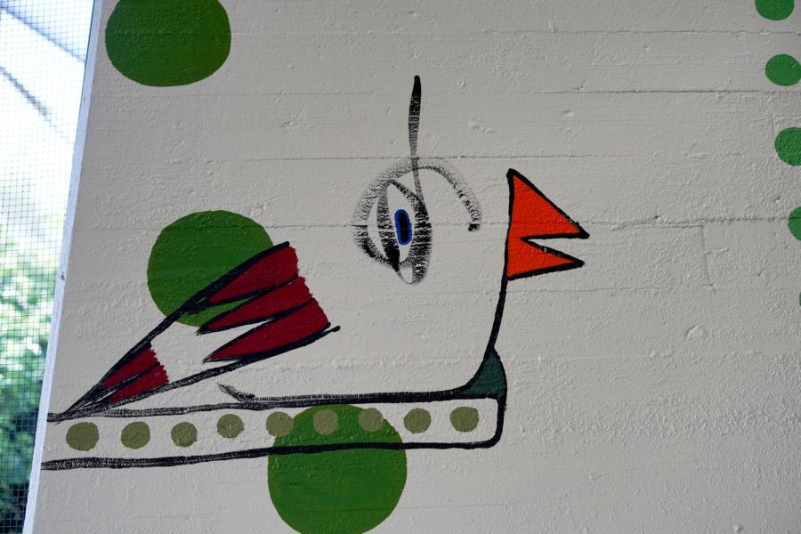 rolf jahn zoo köln wandmalerei fasanerie foto (c) w. scheurer 7300247