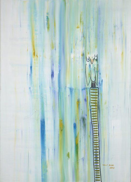 rolf jahn eulen 2017 acrylfarbe auf leinwand 140 x 100 cm