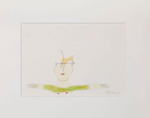 rolf jahn ohne titel 2010 blei und buntstift auf papier 24 x 30 cm