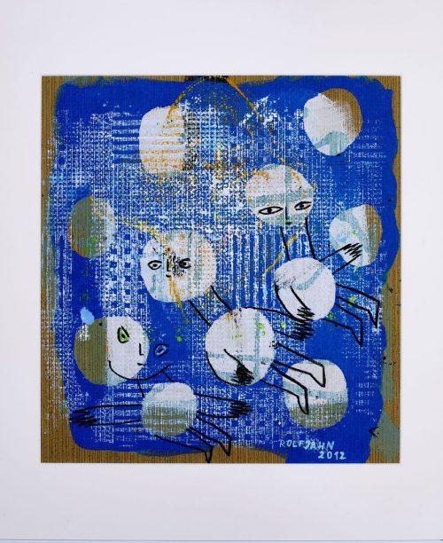 rolf jahn ohne titel 2012 acrylfarbe auf papier 60 x 50 cm