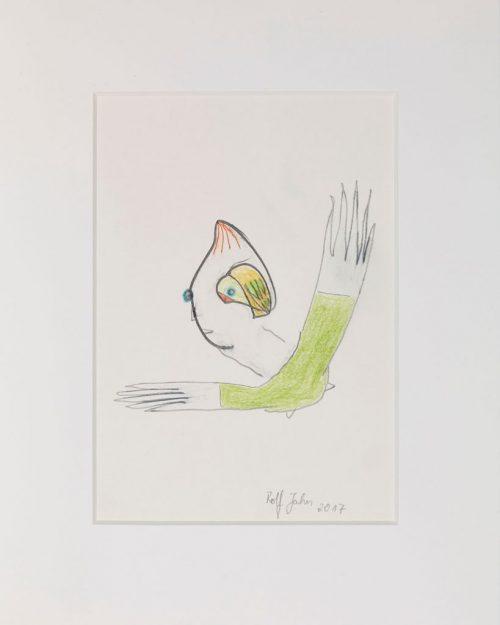 rolf jahn ohne titel 2017 blei und buntstift auf papier 30 x 24 cm