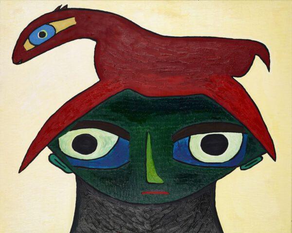 rolf jahn ohne titel 2000 Ölfarbe auf leinwand 80 x 100 cm
