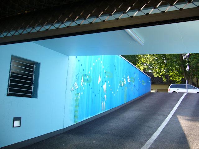 wandmalerei rolf jahn einfahrt tiefgarage amselstraße porz p1000822