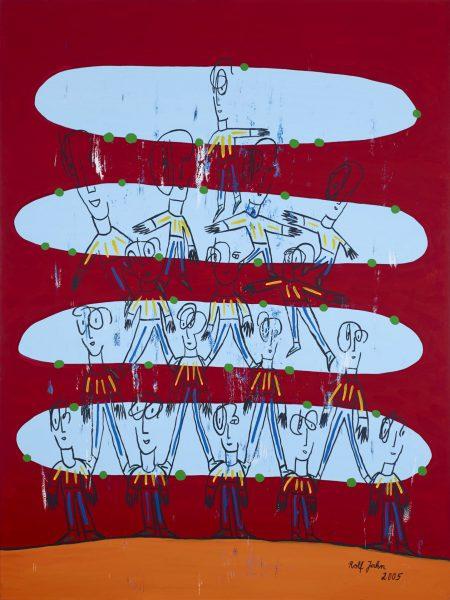 rolf jahn bevölkerungspyramide 2005 acryl auf leinwand 200 x 150 cm