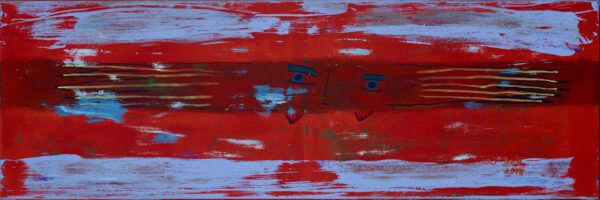 rolf jahn flieger 2018 acryl auf leinwand 50 x 150 cm