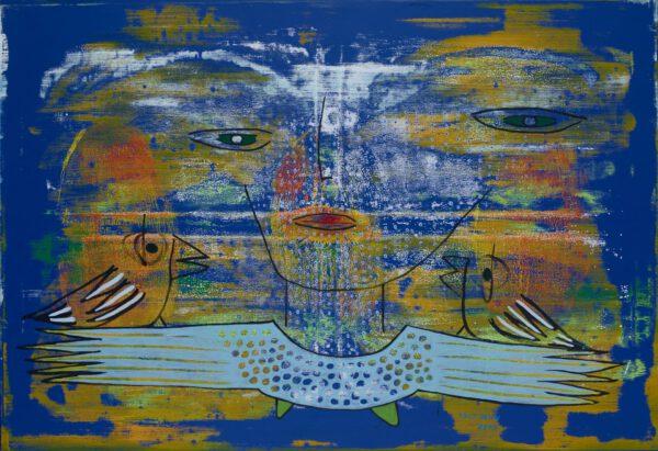 rolf jahn flugbegleiter 2014 acryl auf leinwand 110 x 160 cm