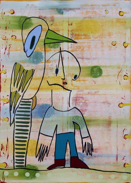 rolf jahn schutzvogel 2019 acryl auf leinwand 140 x 100 cm