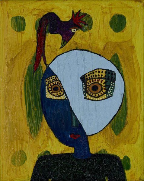 rolf jahn tierfreund 1995 acryl auf leinwand 30 x 24 cm