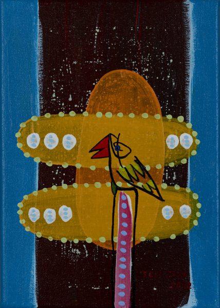 rolf jahn vogel 2012 acryl auf leinwand 28 x 20 cm gerahmt