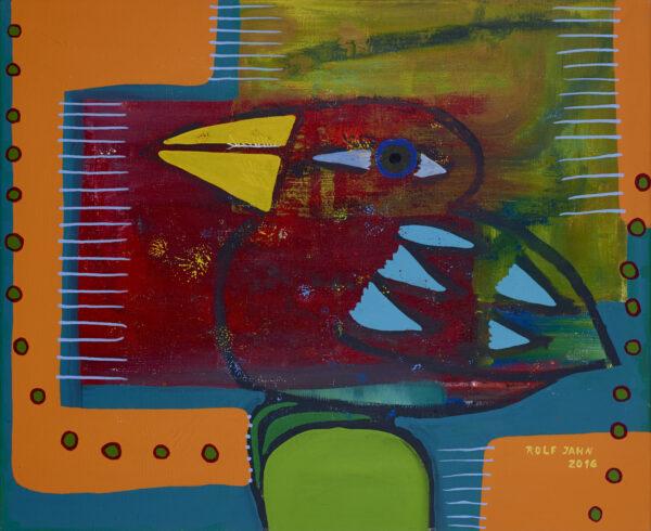 rolf jahn vogel 2016 acryl auf leinwand 90 x 120 cm