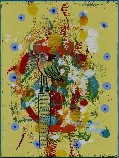rolf jahn vogel 2018 acryl auf leinwand 40 x 30 cm